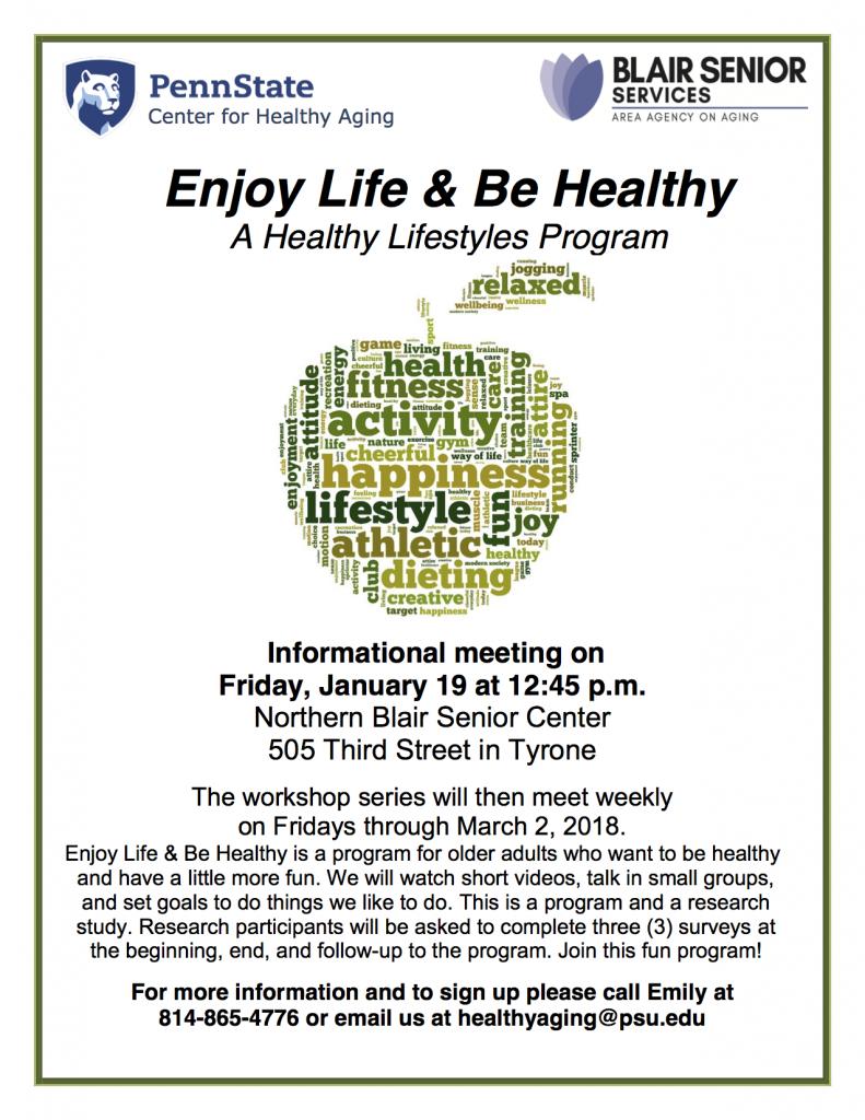 Enjoy Life & Be Healthy Flyer