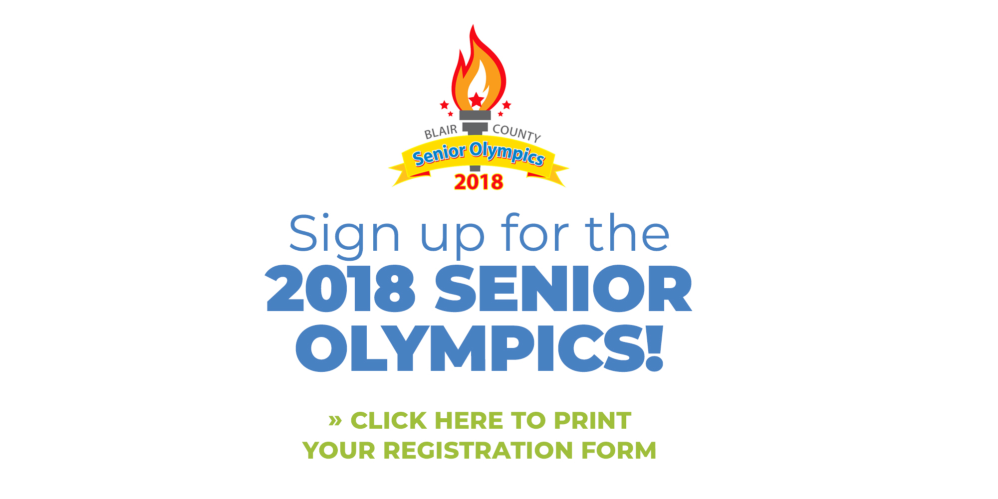 Sign Up For The 2018 Senior Olympics!